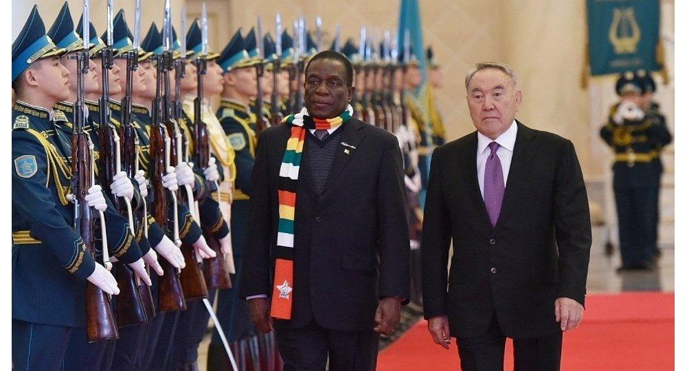 Фотодерек: Зимбабве президенті Назарбаевпен кездесуге ерекше киініп келді