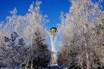 Астана. Виды города. Зима. Байтерек