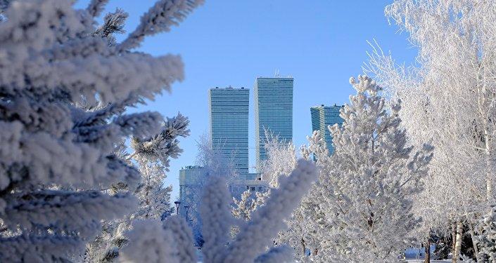 Астана, виды города. ж/к Северное сияние