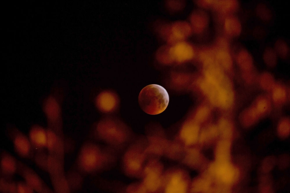 Кровавое лунное затмение в Бельгии