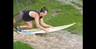 Серфинг по лужам - видео