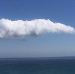 Странное облако заметили в небе Австралии