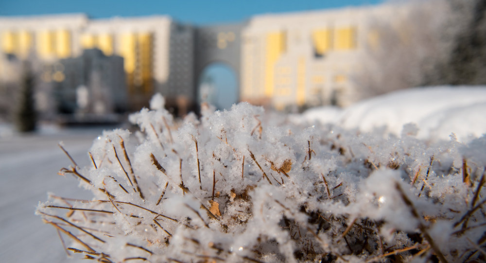 Виды астаны зимой