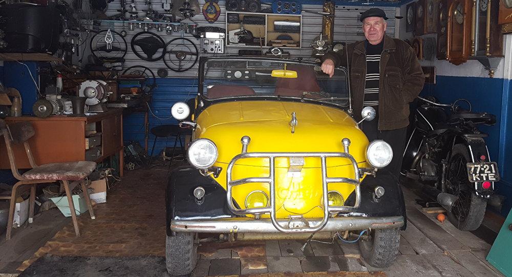 Коллекционер раритетных автомобилей Анатолий Габченко