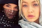 Модели Кендалл Дженнер и Джиджи Хадид в хиджабе в ОАЭ