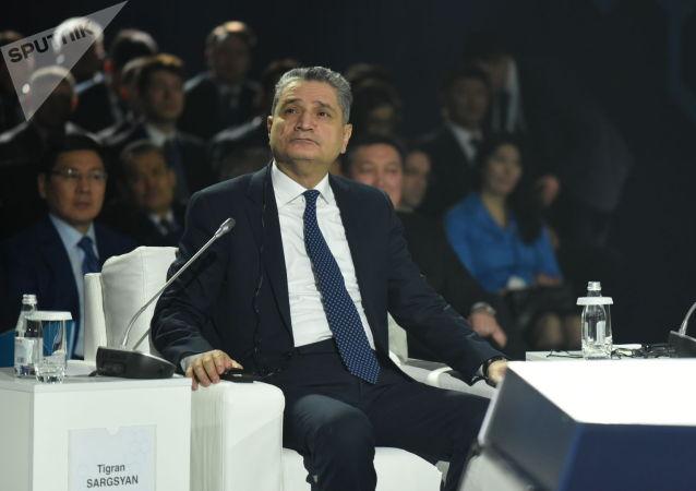 Председатель Коллегии Евразийской экономической комиссии (ЕЭК) Тигран Саркисян