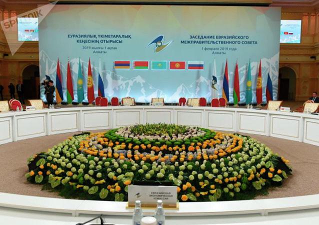 Перед началом заседания Межправсовета с участием глав правительств стран ЕАЭС в Алматы