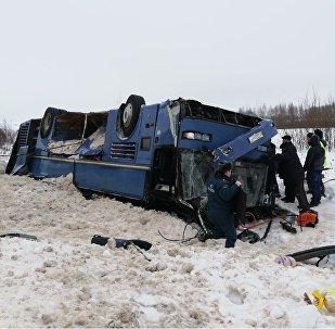 Авария с автобусом в Калужской области