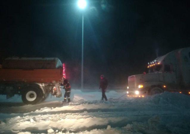 Мероприятия проведенные 5 февраля на территории Акмолинской области из-за ухудшения погодных условий