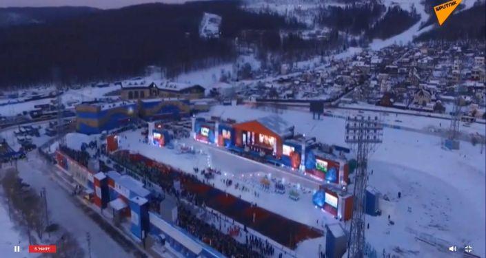 Открытие первых зимних игр Дети Азии на Сахалине