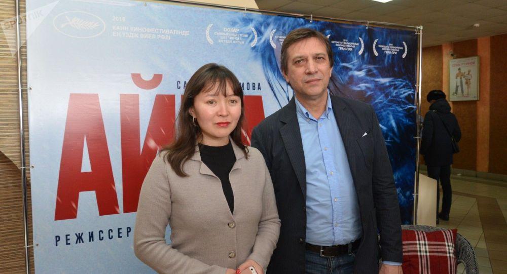 Актриса Самал Еслямова и режиссер Сергей Дворцевой