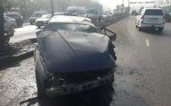 БМВ вылетел на встречку по ул. Саина, где столкнулся с другой машиной