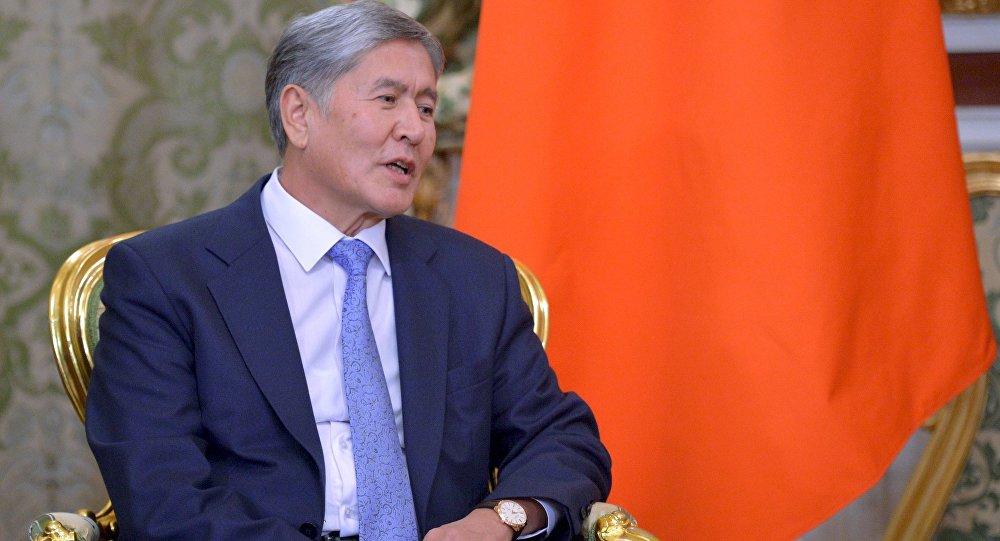 Алмазбек Атамбаев Қырғызстан президенті