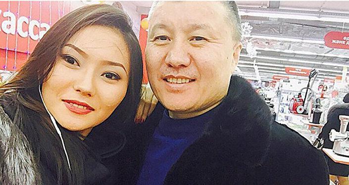 Бахытбек Есентаев с дочерью