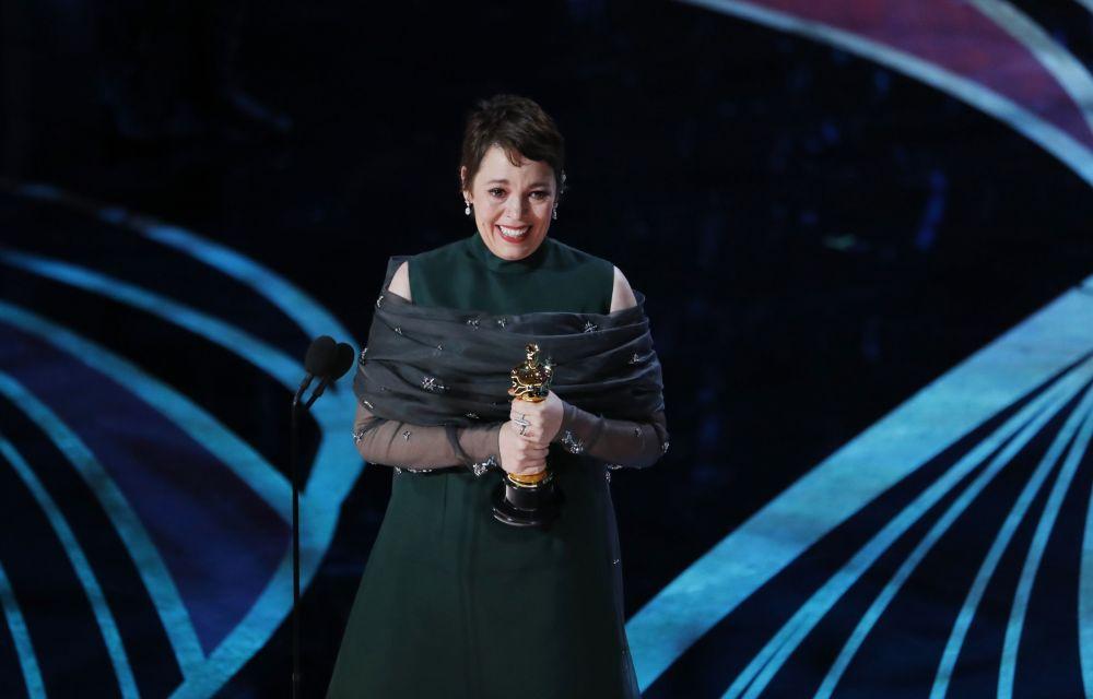 Актриса Оливия Колман с наградой за лучшую женскую роль на церемонии вручения Оскар-2019