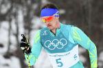 Казахстанский лыжник Алексей Полторанин