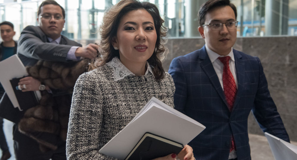 Министр труда и социальной защиты населения Мадина Абылкасымова