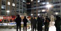 ЖК Камал-4 загорелся в столице вечером 28 февраля