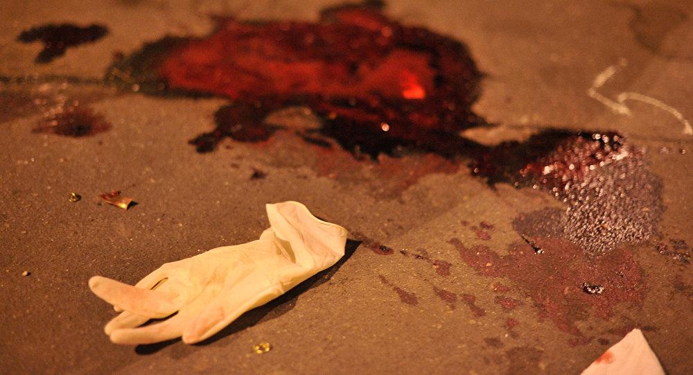 Кровь на асфальте