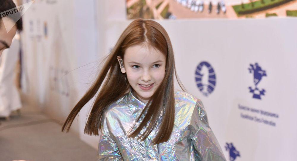 Данэлия Тулешова на открытии Чемпионата мира по шахматам в Астане