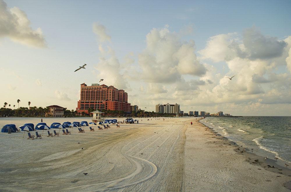 Пляж Clearwater во Флориде, США.