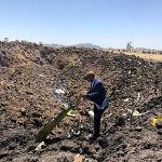 Обломки самолета авиакомпании Ethiopian Airlines