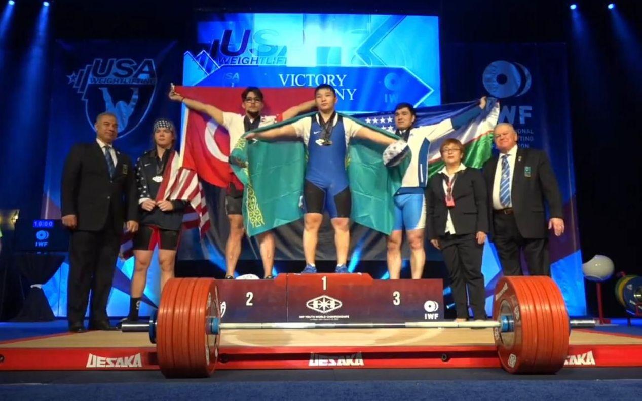 Казахстанский тяжелоатлет Бекболат Рахат