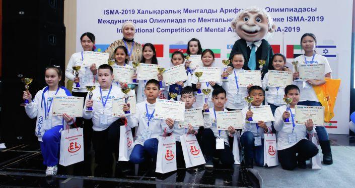 Участники олимпиады по ментальной арифметике