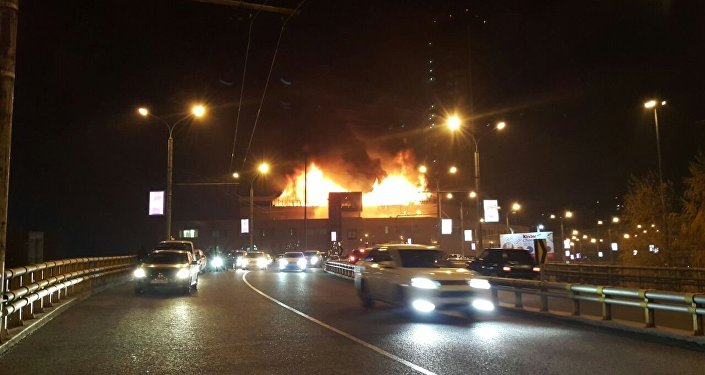 Пожар в Almaty Towers