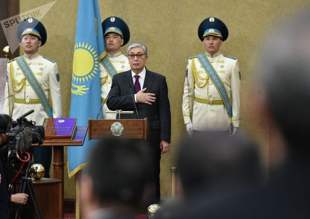 Касым-Жомарт Токаев в ходе принесения присяги президента