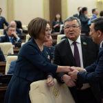 Депутаты перед совместным заседанием палат парламента