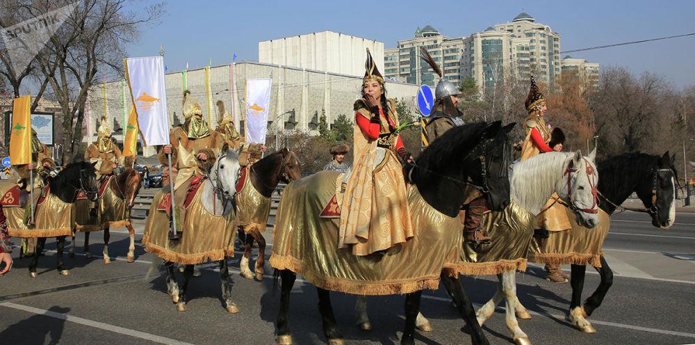 Праздничное шествие в честь праздника Наурыз