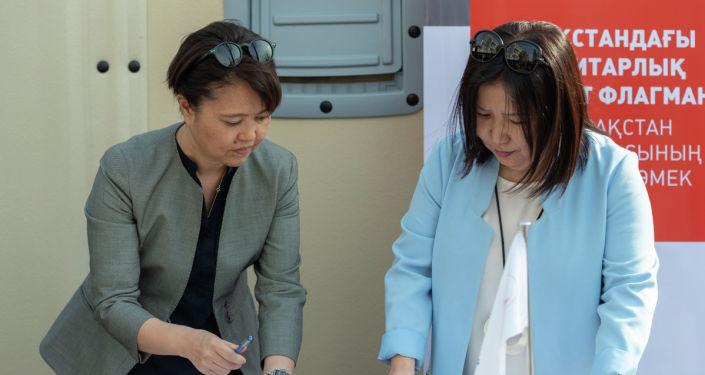 Почти полсотни современных сборных домов передало Красному Полумесяцу Казахстана управление Верховного комиссара по делам беженцев ООН