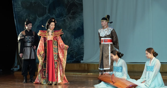Государственный Республиканский корейский театр музыкальной комедии в Алматы. Репетиции