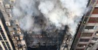 Кадры пожара в небоскребе в Дакке (Бангладеш) 28 марта - видео
