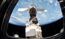 Корабль Союз МС-12 пристыкованный к МКС, архивное фото