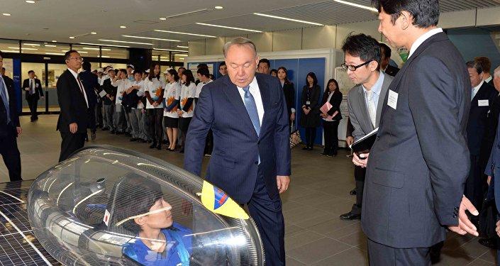 Назарбаев Токай университетіне барды