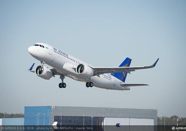 Самолет A320NEO Эйр Астана