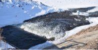 Гидросооружение в Акмолинской области, архивное фото