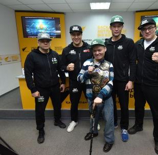 Участники брифинга в мультимедийном пресс-центре Sputnik Казахстан