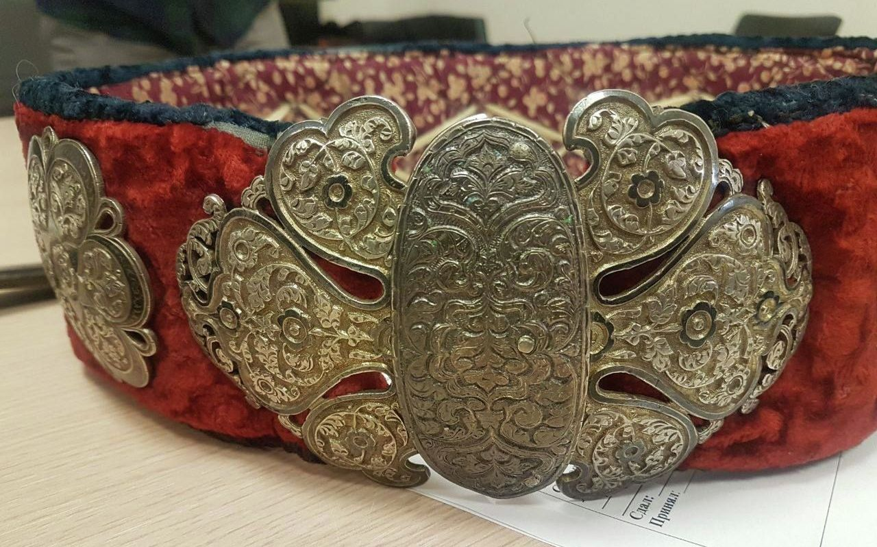 Белбеу - пояс декорированный узорами