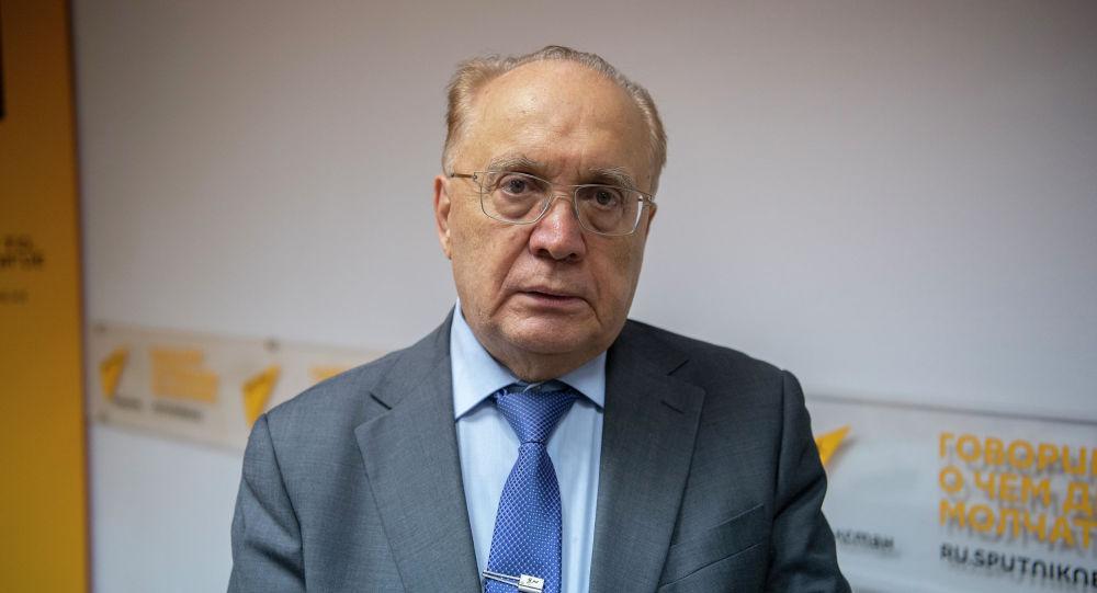 Ректор Московского государственного университета Виктор Садовничий в пресс-центре Sputnik Казахстан