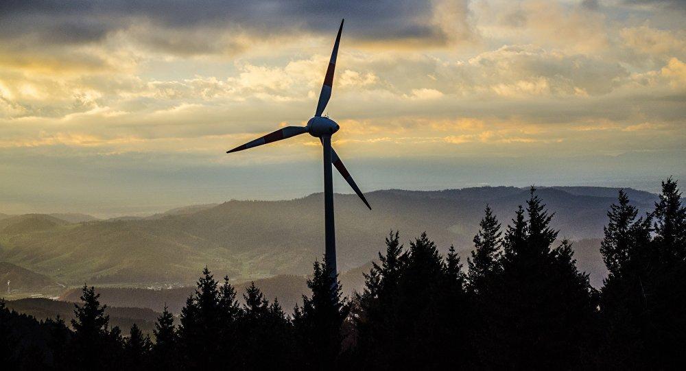 Архивное фото ветровой электростанции