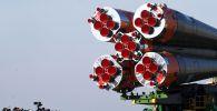 Вывоз РН Союз-ФГ на стартовую площадку космодрома Байконур, архивное фото