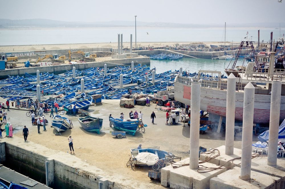 Портовый город в Марокко Эс-Сувейра