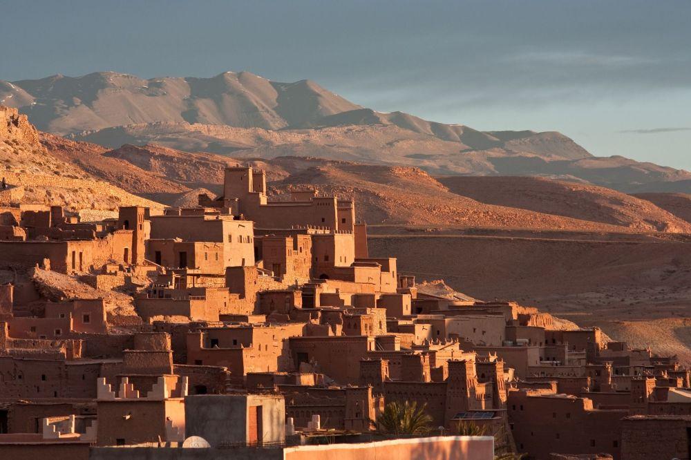 Ксар Айт-Бен-Хадду в южном Марокко в 100 км от Марракеша