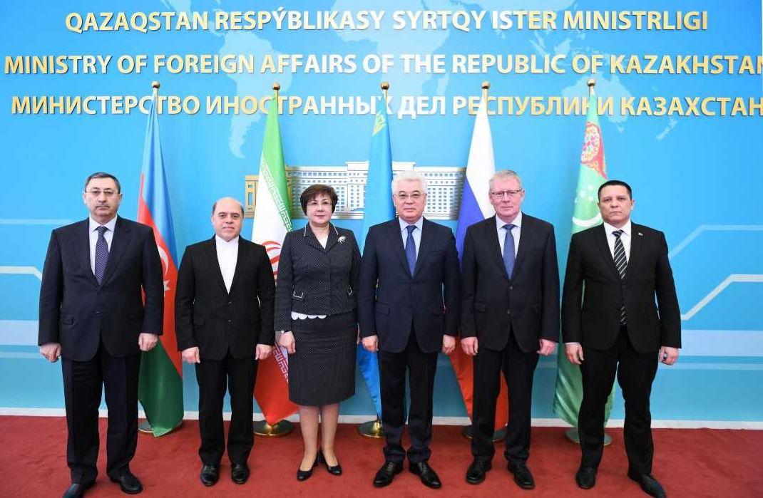 Участники заседания Рабочей группы высокого уровня по вопросам Каспийского моря (РГВУ)