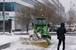 Уборка снега в Астане