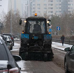 Астанада қар тазалау