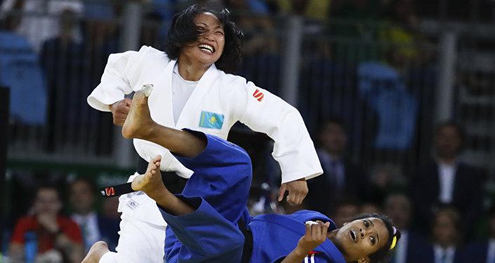 Архивное фото Галбадрах Отгонцэцэг на Олимпийских играх в Рио-де-Жанейро